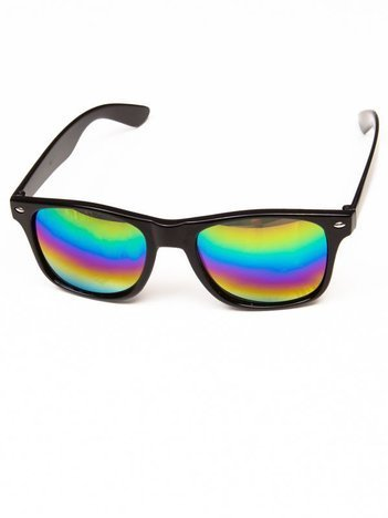 Klasyczne okulary w stylu WAYFARER unisex z soczewką OMBRE POŁYSK
