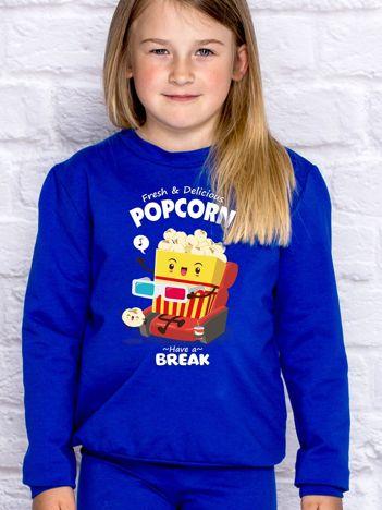 Kobaltowa bluza dziecięca POPCORN