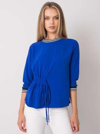 Kobaltowa bluzka ze ściągaczem Bettina RUE PARIS