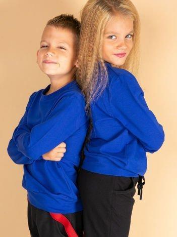 Kobaltowa gładka bluza dziecięca