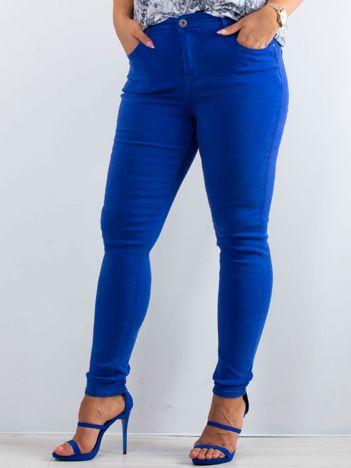 Kobaltowe spodnie North PLUS SIZE