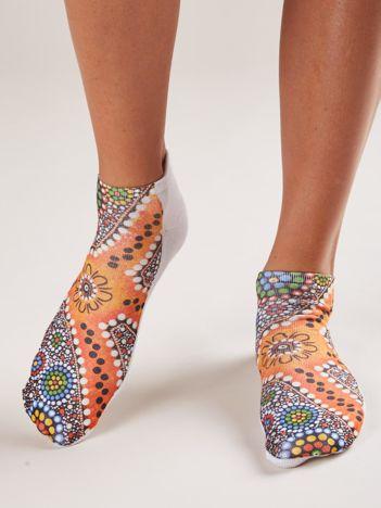 Kolorowe stopki z nadrukiem