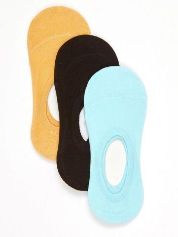 Komplet bawełniane damskie stopki z silikonem 3-pak