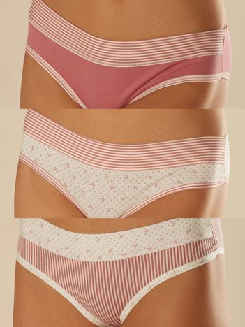 Komplet bawełnianych majtek damskich 3-pak