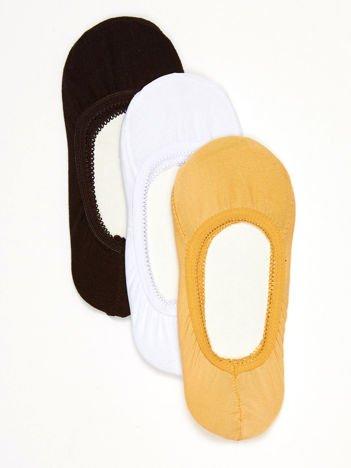 Komplet gładkie bawełniane stopki basic z gumką 3-pak