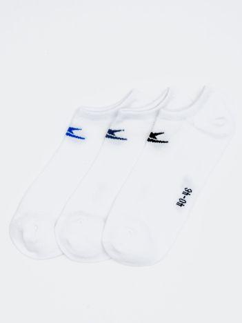 Komplet krótkie skarpety męskie sportowe z logo 3 pary