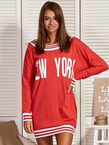 Koralowa sukienka NEW YORK