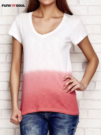 Koralowy t-shirt ombre FUNK N SOUL