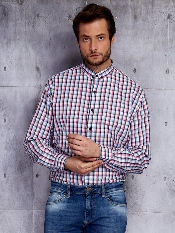 Koszula męska we wzór kolorowej kraty