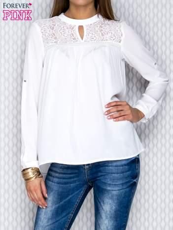 Koszula mgiełka biała z koronką
