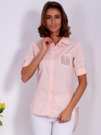 Koszula różowa z motywem flamingów