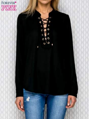 Koszula z wiązaniem czarna