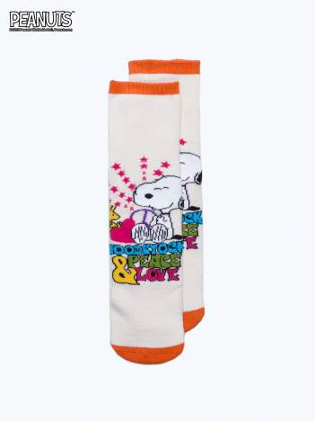 Kremowe skarpetki dla dziewczynki SNOOPY