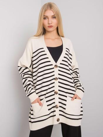 Kremowy sweter damski rozpinany Trenton
