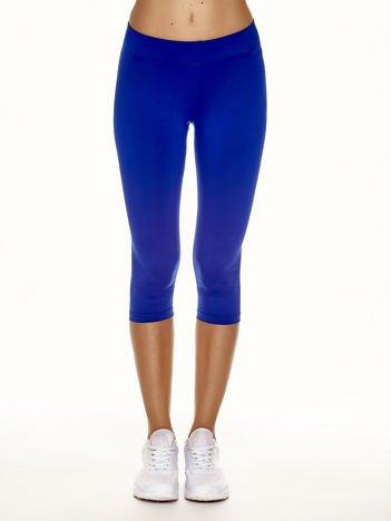 Krótkie cienkie legginsy sportowe kobaltowe