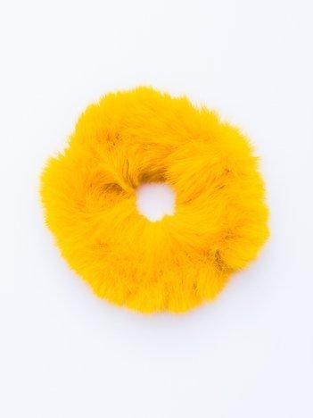 Kurkumowa puszysta gumka do włosów