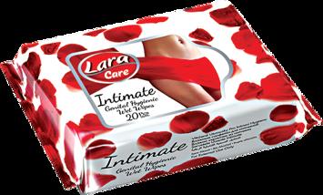 LARA Nawilżane chusteczki do higieny intymnej 20 szt