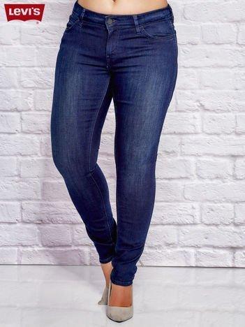 LEVIS Granatowe jeansy slim PLUS SIZE