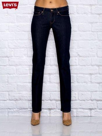 LEVIS Granatowe jeansy ze stretchem