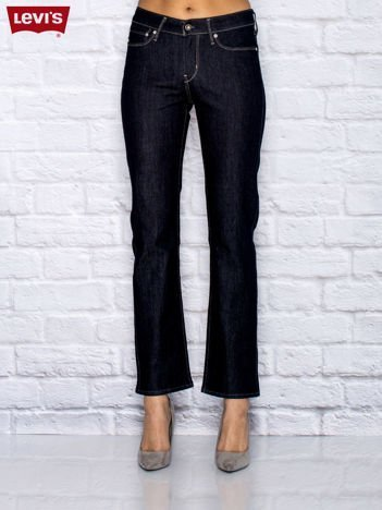LEVIS Granatowe proste jeansy