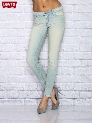 LEVIS Jasnoniebieskie jeansy skinny z przetarciami