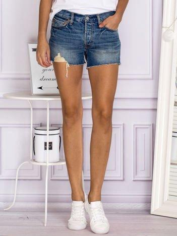LEVIS Klasyczne szorty jeansowe Levis 501 niebieskie