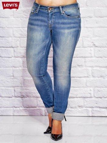 LEVIS Niebieskie jeansy skinny z przetarciami PLUS SIZE