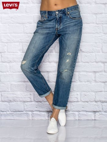 LEVIS Niebieskie spodnie jeansowe boyfriendy