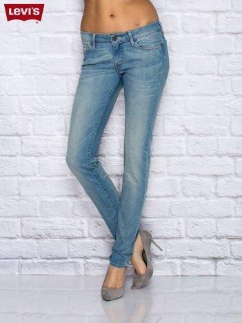 LEVIS Spodnie jeansowe skinny niebieskie