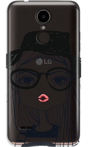 LG K8 2017 GIRL WITH PINK LIPS