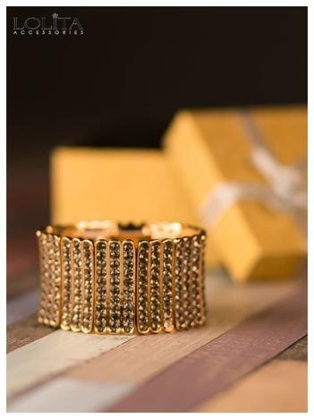 LOLITA Bransoletka złota z cyrkoniami szeroka