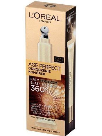 L'Oréal Age Perfect Odrodzenie Komórek 50+ krem pod oczy dodający blasku 15 ml