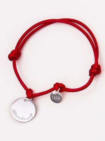 LUCKY Czerwona damska bransoletka z najlepszej jakości STALI CHIRURGICZNEJ 316L