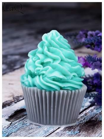 LaQ Mydełko Duża Muffinka - zielono-szary / Zapach - jabłko i orzechy + wata cukrowa BEZ SLS i SLES