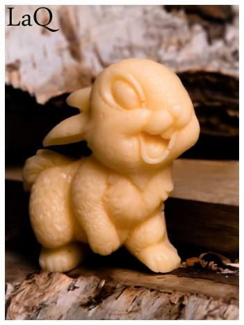 LaQ Mydełko Uśmiechnięty królik - pomarańczowy / Zapach - brzoskwinia BEZ SLS i SLES