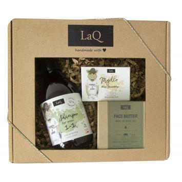 """LaQ Zestaw prezentowy dla mężczyzn Dzik (szampon 300ml+masło 50ml+mydło kostka 85g) 1op."""""""