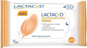 """Lactacyd Femina Chusteczki do higieny intymnej  1op-15szt"""""""