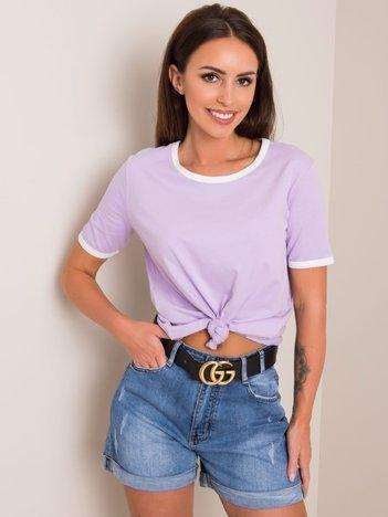 Liliowy t-shirt Odette