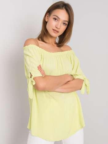 Limonkowa bluzka hiszpanka Luella
