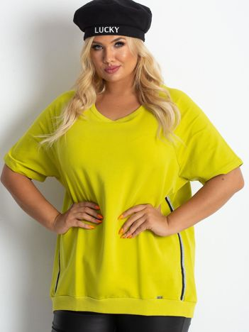 Limonkowa bluzka plus size Holiday