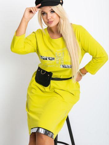 Limonkowa sukienka plus size Coast