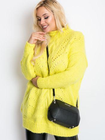 Limonkowy sweter plus size Bridge