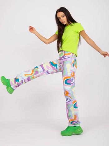Limonkowy t-shirt damski