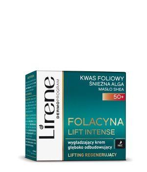 Lirene Folacyna Wygładzający krem głęboko odbudowujący na noc 50+ 50 ml