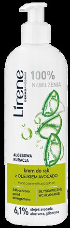 Lirene Krem do rąk Aloesowa Kuracja z olejkiem avocado 180 ml