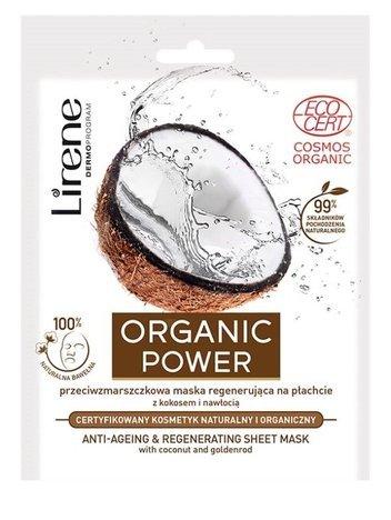 Lirene Organic Power Przeciwzmarszczkowa maska regenerująca na płachcie 25 g