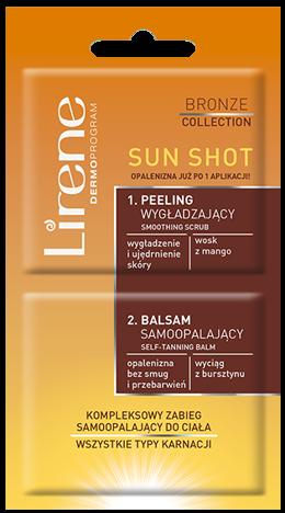 Lirene SUN SHOT Kompleksowy jednorazowy zabieg samoopalający 2 x 10 ml