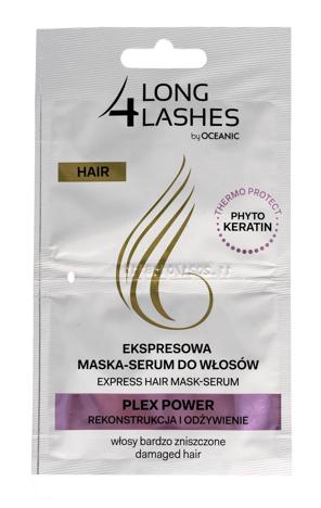 Long 4 Lashes Ekspresowa Maska-Serum do włosów Plex Power regeneracja + odżywienie  6 ml x 2