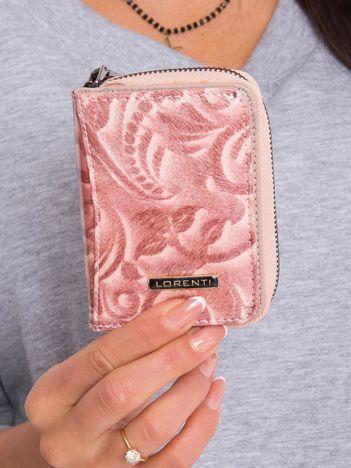 Łososiowy mały skórzany portfel