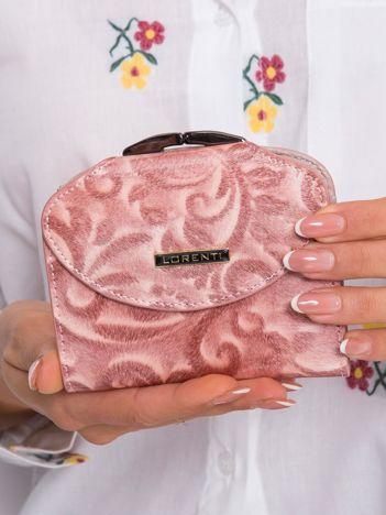 Łososiowy skórzany portfel
